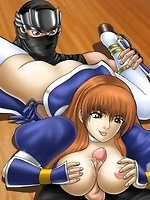 Naughty ninja fucking busty babes in tight butthole and big boobs